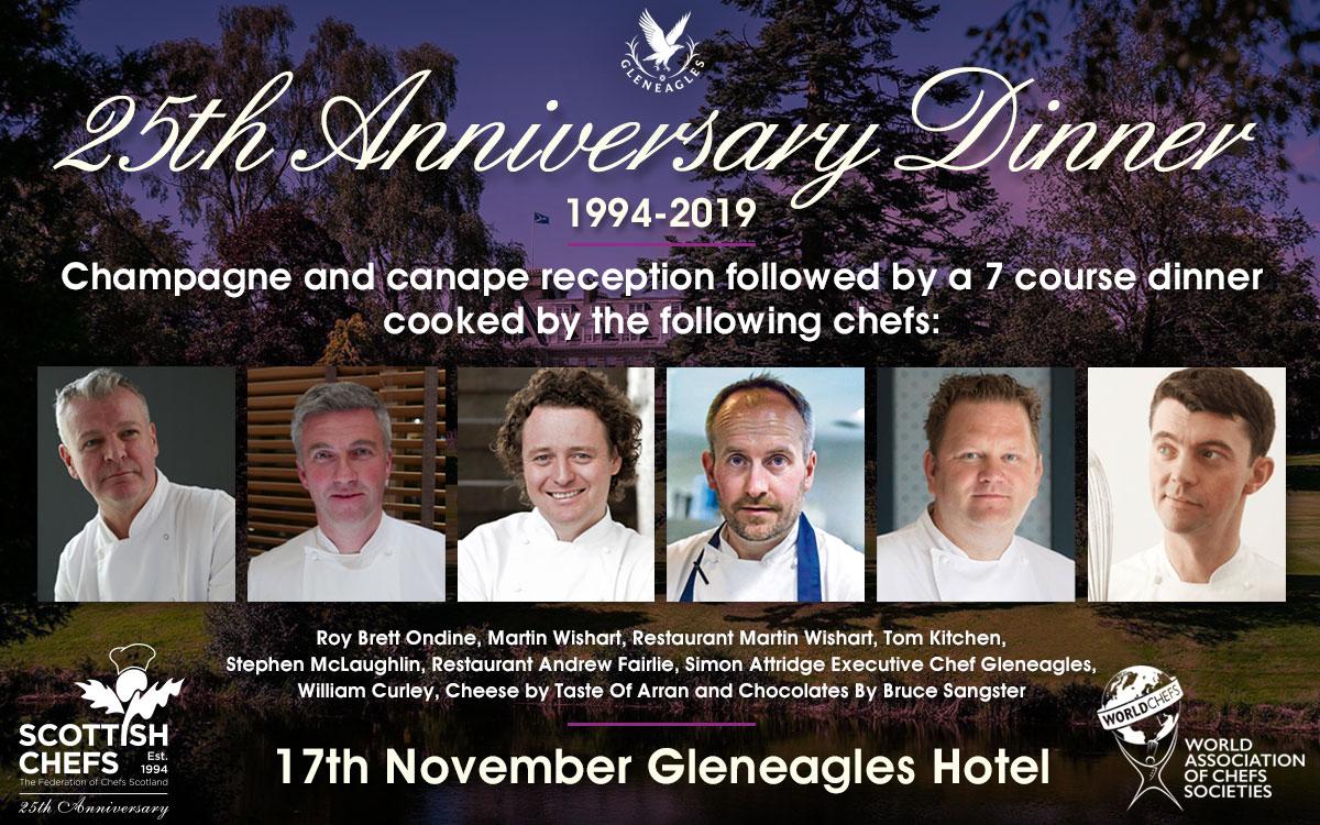 Scottish Chefs 25th Anniversary Dinner, 17th November  - Gleneagles Hotel