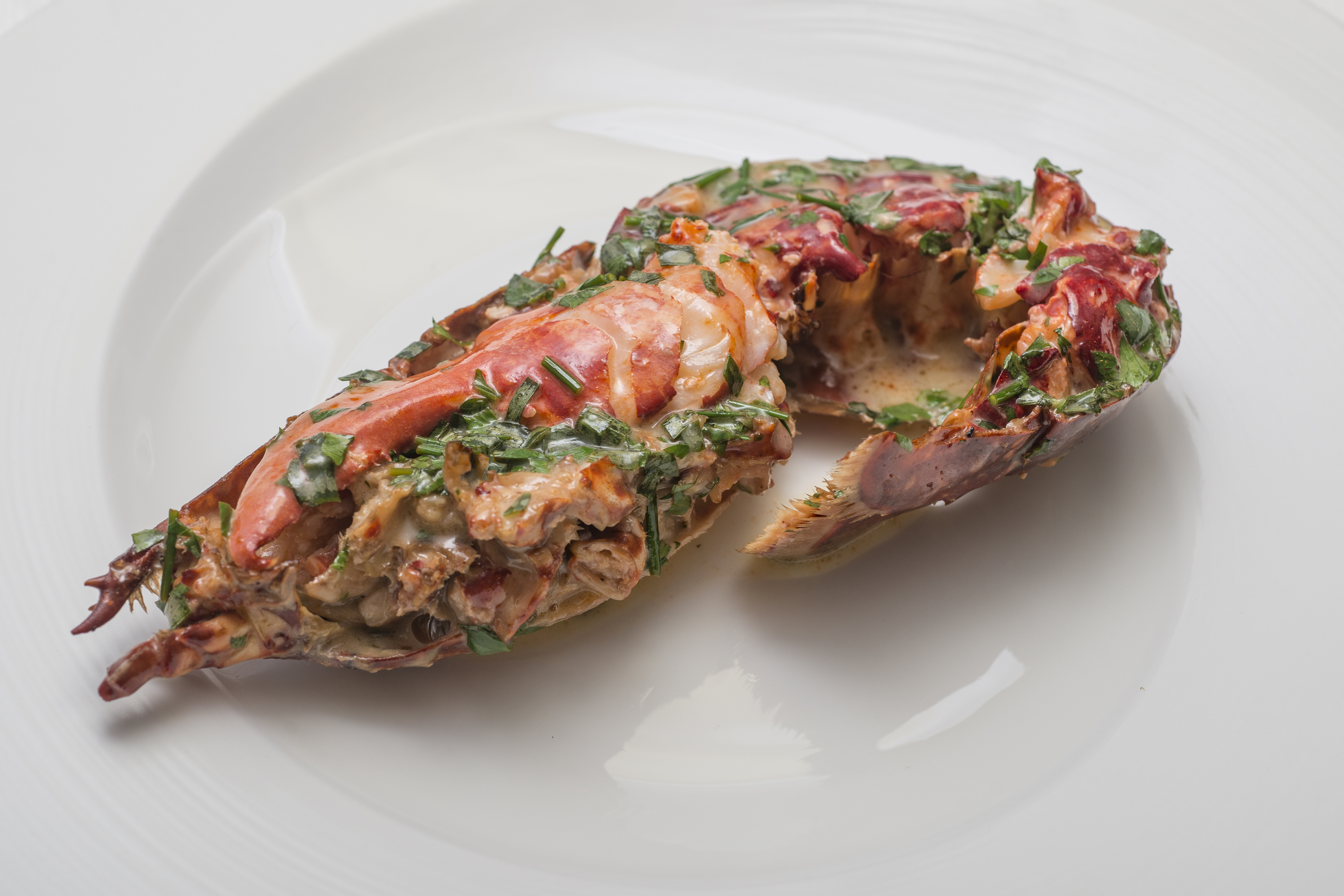 Home smoked Scottish Lobster, warm herb and lime butter